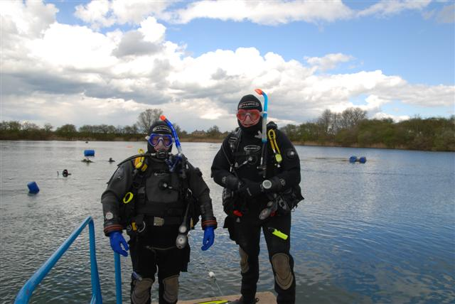 Diving at Gildenburg, Arpil 2008