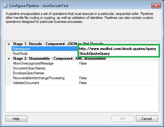 JSON Decode Pipeline Component Configuration