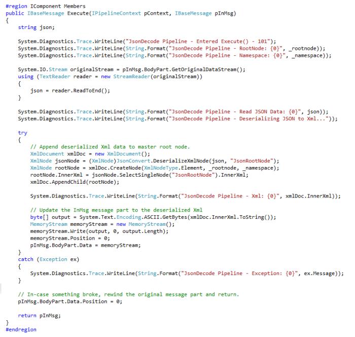 JSON Decode Pipeline Component Source Code